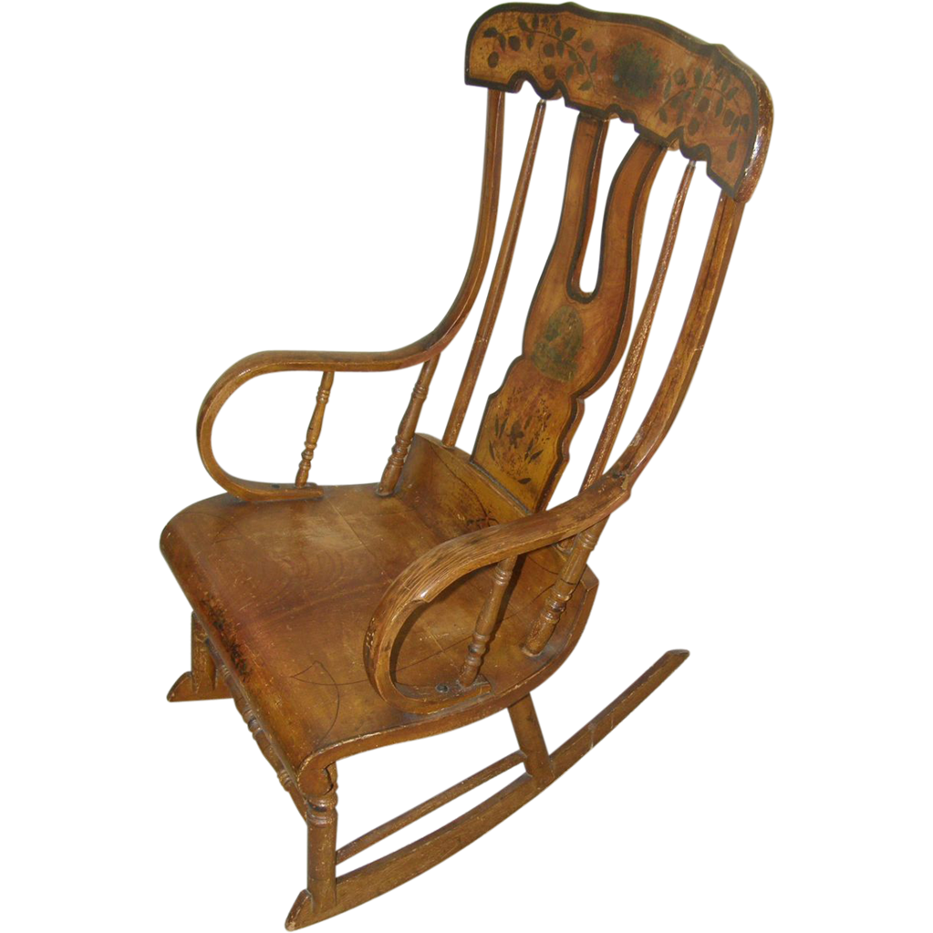 Original Paint= Rocking chair ca.1830, Boston type, sturdy from ...