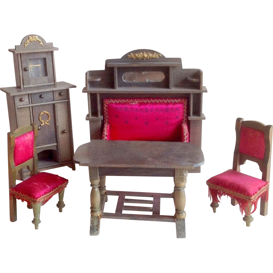 German wooden and silk furnishings set 1915 eppendorfer for Furniture 123 near me