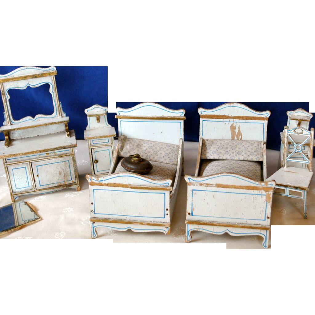 Gottschalk bedroom marked furniture 1905 from rubylane for Bedroom furniture 94109