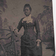 Black Woman  Tin type
