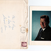 Arthur  Godfrey  Orinal Christmas Card with hand addressed envelope 1973