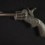 Original 1930 Pluck Miniature Cast Iron Toy Cap Gun