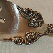 SOLD Free Shipping! Wm Rogers & Son AA Arbutus Cold Meat Fork Circa 1908