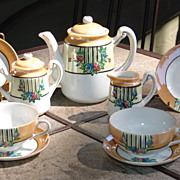 Vintage Child's Lusterware China Tea Set for 4-Japan