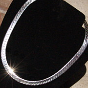Vintage 16 inch Sterling 925 Italy Serpentine Necklace