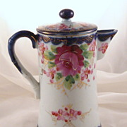 USA Vintage Hand Painted Nippon Cobalt Chocolate Pot Circa before 1890
