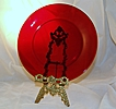Vintage Ruby Red Luncheon Plate Anchor Hocking Glass Co.