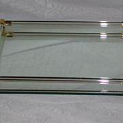 SOLD 1950's Art Deco Style Mirrored Vanity Tray