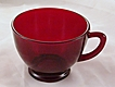 Vintage Royal Ruby Red Cup Anchor Hocking R-4000