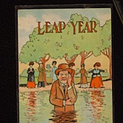 "SOLD Leap Year Postcard Early 1900's Confirmed Bachelor The PCK Series  ""Between the devi"