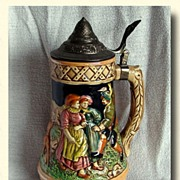 Vintage Musical Hunting Stein Made in Japan MIJ