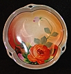 Vintage Vibrant Chikaramachi Noritake Lusterware Trefoil Bowl with Hand Painted Scenic Center