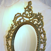 Ornate Beveled Vanity Looking Glass Mirror