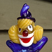 SOLD Vintage Fratelli Pitau Murano Art Glass Clown