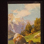 Antique Mountain Scenic Post Card