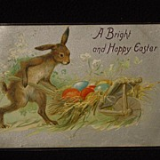 SOLD Antique Tuck's Embossed Easter Postcard Printed in Saxony