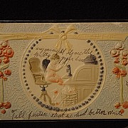 SOLD Antique Postcard To My Valentine 1906