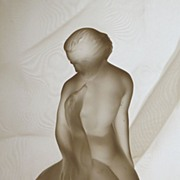 SOLD Lalique Leda, Nude with Swan France on Sale