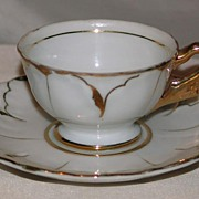 Red Mark-Made in Japan, Demitasse Tea Cup & Saucer Set