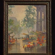 "Vintage ""Market Day""  French Print Framed"