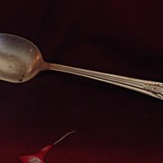 Camelia Silver Plate Serving Spoon