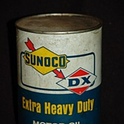 Vintage Sunoco Extra Heavy Duty Motor Oil Can