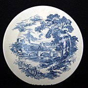 "Vintage Blue & White Wedgwood & Co. LTD. ""Countryside"" Plate"