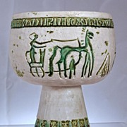 Unusual Lefton Compote with Chariots & Riders