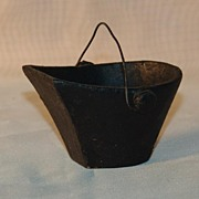 Vintage Miniature Cast Iron Coal Bucket