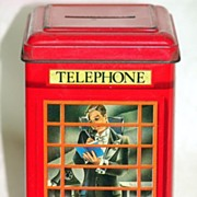 Vintage Red Telephone Bank Bentley's of London English Heritage Collection Made in Gt. Britain