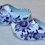 Vintage Hand Painted Delfts Blauw Shoe Planter (2)