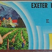 Exeter District Emperors Shipping Crate Label 26 lbs. Produce of USA
