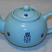 Vintage Cronin Blue Tulip Tea Pot
