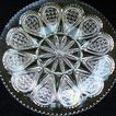 "Early American Pattern Glass Heisey Glass fancy Loop No. 1205 8 1/2"" Dish"