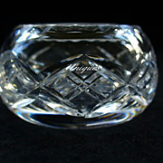 Elegant Harbridge Cut Crystal Glass Salt Dip MI England 1924-55