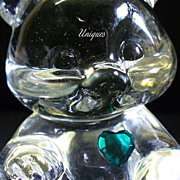 Elegant Fenton Glass May Birthstone Bear