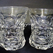 Vintage Fostoria Glass Honey Comb with Star Glasses 1905 Pattern Glass EAPG