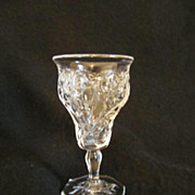 EAPG Mckee Glass Rock Crystal Cordial Wine Glass 1894