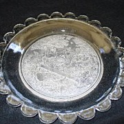 1880's Gillinder Glass See Saw Commemorative Plate w/ Children & Dogs