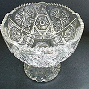 Early American Pattern Glass U.S. Glass Regal Childs Toy Punch Bowl 1906