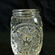 George Duncan's Sons & Co. Starred Loop Glass Shaker 1899 EAPG