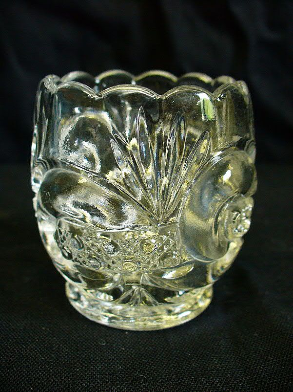 West Virginia Glass Co. Scroll with Cane Band No.213 Toothpick Holder