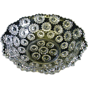 EAPG Starry Night Large Glass Bowl Early American Pattern Glass Stars