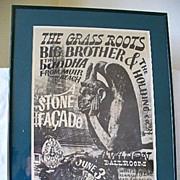 The Grass Roots Big Brother & The Holding Co. Family Dog Poster 1966