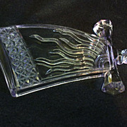 EAPG U.S. Glass Flaming Sword Novelty Pickle Dish So Unique!