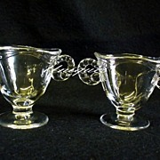Elegant Fostoria Glass Coronet Blank #2560 Cream & Sugar Set kitchen Glass