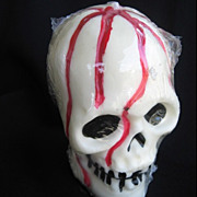 SALE Ghoulish Vintage Halloween Bleeding Skull Candle c. 1970s-80s