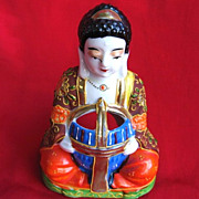 Vintage Japanese Porcelain Buddha Incense Burner