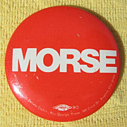 1960s Anti-War Oregon Senator Wayne Morse Campaign Pinback Button