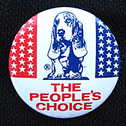 1950s The People's Choice Pinback Button Cleo the Talking Basset